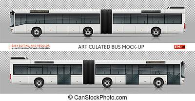 Una maqueta de vector de autobús
