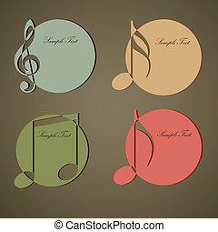Una marca de círculos musicales