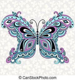 Una mariposa de fantasía decorativa