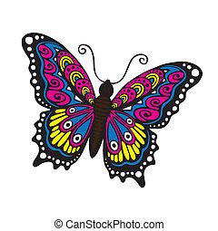 Una mariposa de fantasía