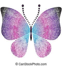 Una mariposa de fantasía grungy