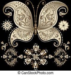 Una mariposa de oro