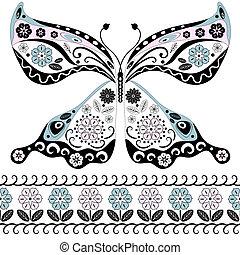 Una mariposa vintage