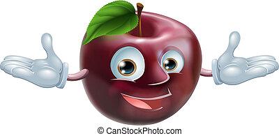 Una mascota de manzana