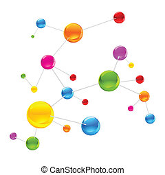 Una molécula colorida