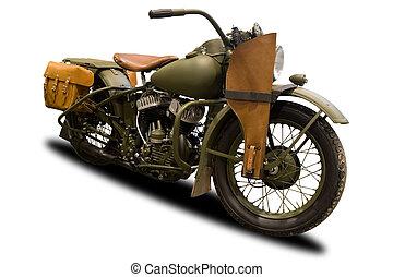 Una motocicleta militar antigótica