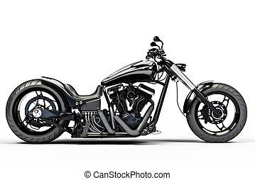 Una motocicleta negra