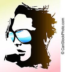 Una mujer con gafas de sol