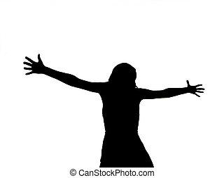 Una mujer crucificada