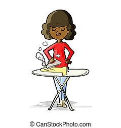 Una mujer de dibujos animados