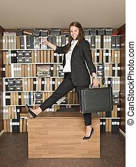 Una mujer de negocios