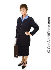 Una mujer de negocios atractiva y madura