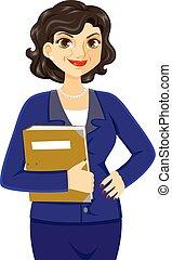 Una mujer de negocios madura