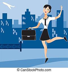 Una mujer de negocios ocupada