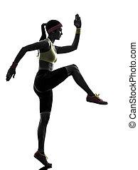 Una mujer ejerciendo ejercicio de ejercicios físicos