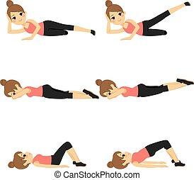 Una mujer ejerciendo en forma