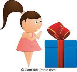 Una niña con un don. Vector
