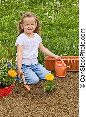 Una niña de jardín