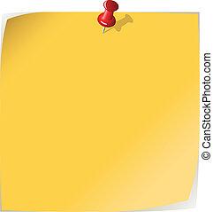 Una nota amarilla
