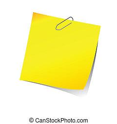 Una nota con clip