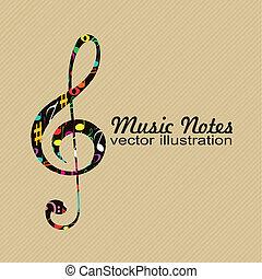Una nota de música abstracta