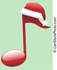 Una nota musical de Carol para la música navideña