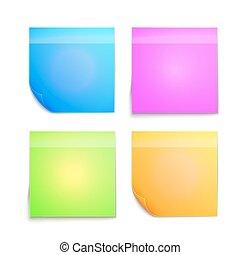 Una nota pegajosa de colores