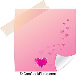 Una nota pegajosa de San Valentín