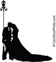 Una novia y un novio en su boda
