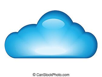 Una nube azul brillante