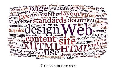 Una nube de diseño Web