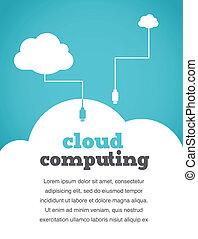 Una nube de estilo vintuoso que compone afiche