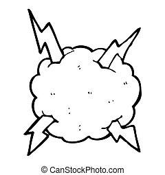 Una nube de truenos de cartón