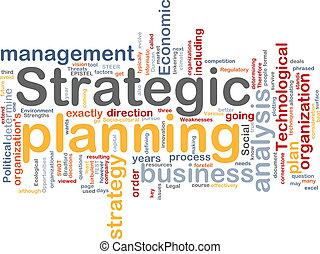 Una nube estratégica de planificación