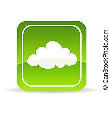 Una nube verde que compone el icono