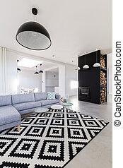 Una nueva habitación elegante