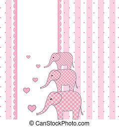 Una nueva tarjeta de invitación a la ducha de bebés