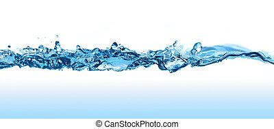Una ola de agua.