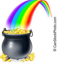 Una olla de oro al final de la lluvia