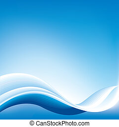 Una onda abstracta azul