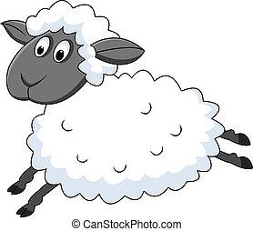 Una oveja saltarina