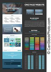 Una página de diseño de páginas