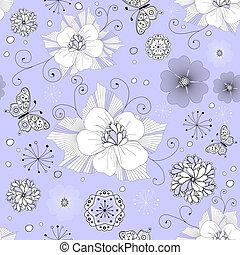 Una palmada floral blanca y negra