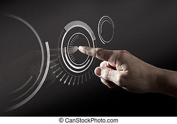 Una pantalla de toque digital
