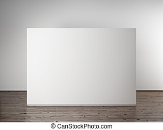 Una pared blanca vacía