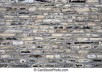 Una pared de piedra