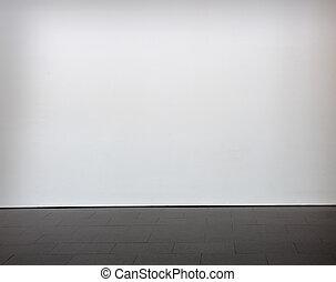 Una pared en blanco