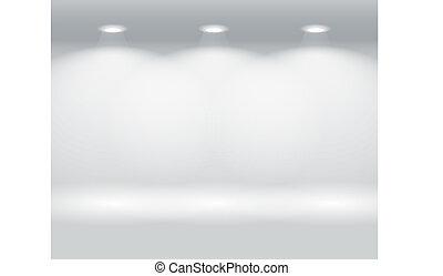 Una pared iluminada de paneles coloridos