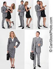 Una pareja con ropa diferente