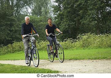 Una pareja de ancianos activa
